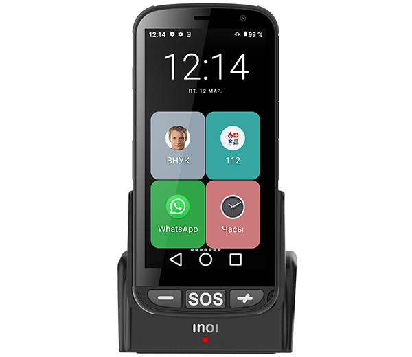 Inoi EasyPhone: смартфон для людей солидного возраста с крупными иконками и подставкой для подзарядки