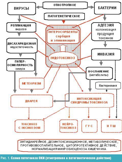 Схема патогенеза ОКИ
