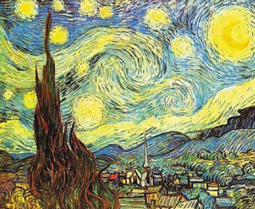 Рис. 2. Ван Гог. Звездная ночь