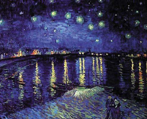 Рис. 3. Ван Гог. Звездная ночь над Роной
