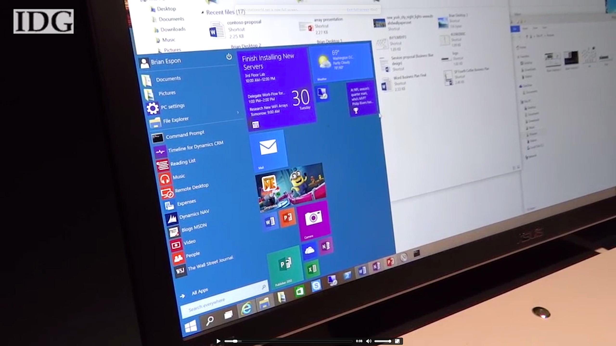 знакомство с microsoft windows 10