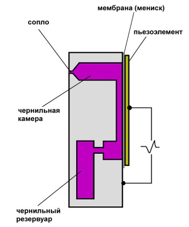 Схема устройства элемента