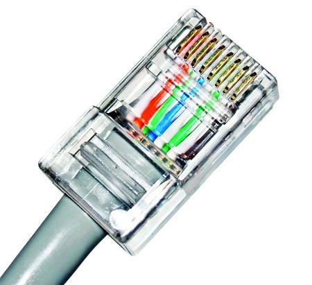 провода в коннектор RJ45