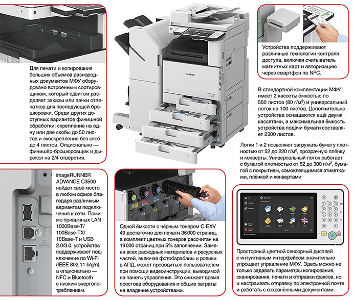 Canon imageRUNNER ADVANCE C3500 — цифровая печать для всех
