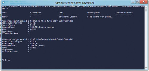 Создание общей папки с помощью Powershell Workflow