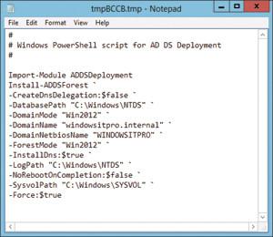 Команда Install-ADDSForest (PowerShell)