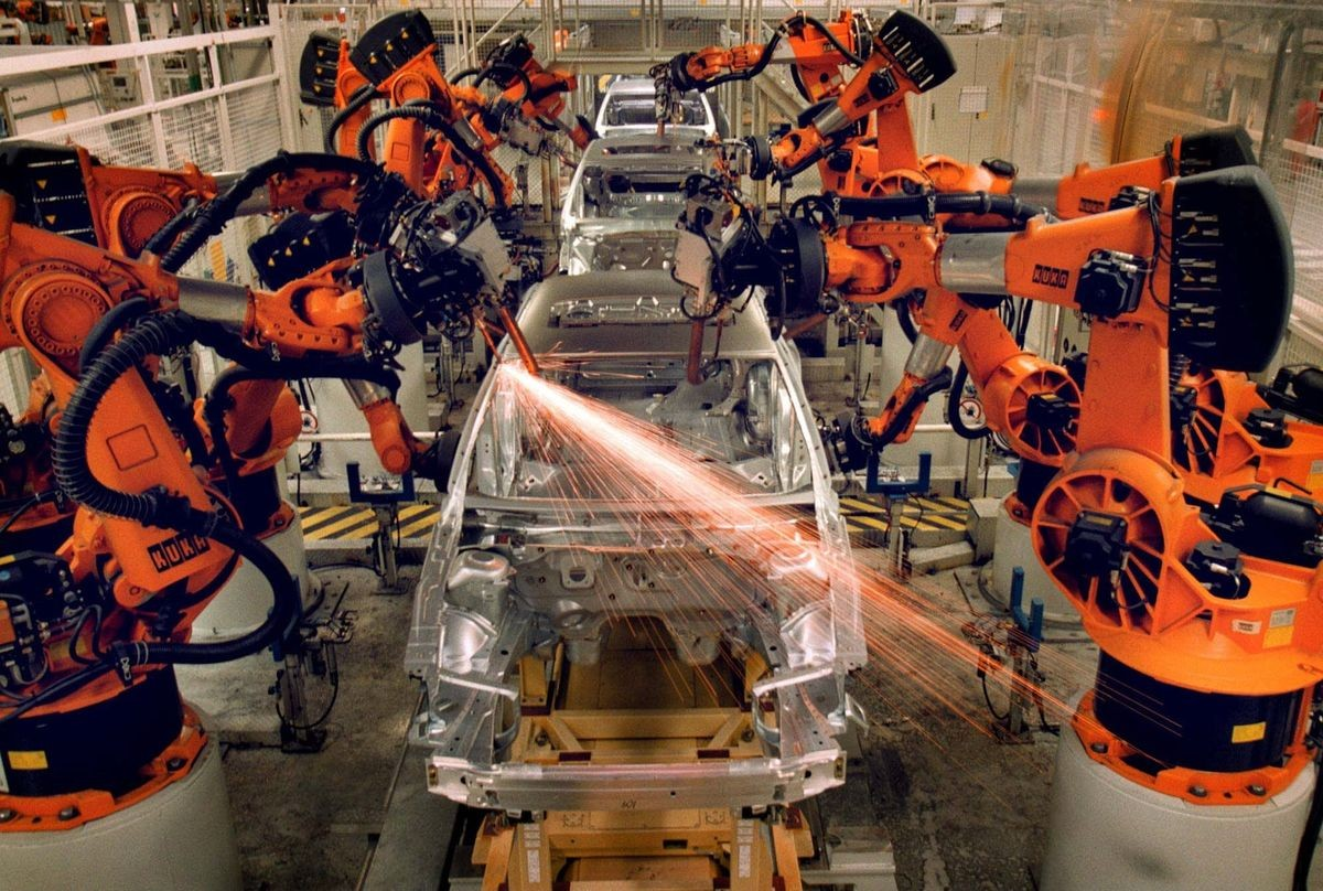 industries that use robots The field of industrial robotics may be more practically defined as the study, design and use of robot systems for manufacturing (a top-level definition relying on the prior definition of robot.
