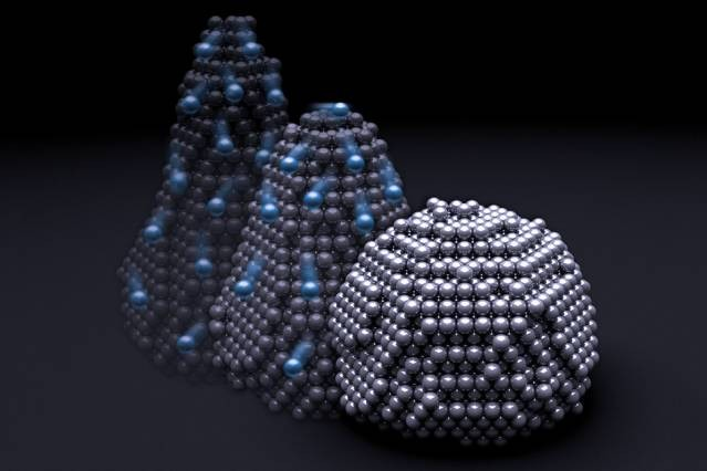 Металл в наночастицах ведет себя, как жидкость