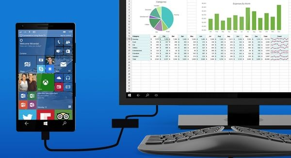 Смартфоны на Windows 10 смогут превращаться в ПК