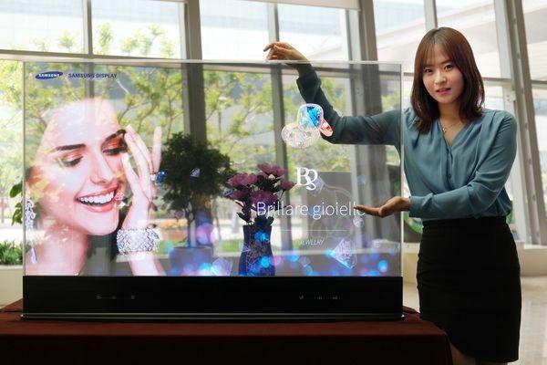 Прозрачный экран-зеркало Samsung может появиться в примерочных