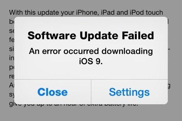 Пользователи жалуются на проблемы с загрузкой iOS 9