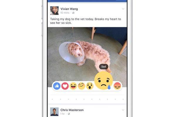 Facebook тестирует новую кнопку «нравится» — с шестью эмоциями