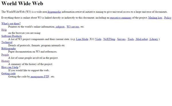 Исполнилось 25 лет первой в мире веб-странице