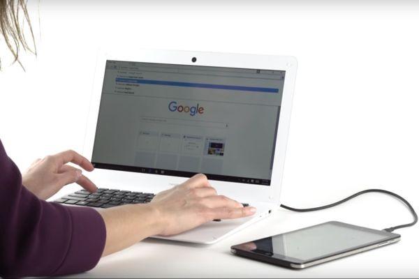 NexDock позволяет превратить смартфон, планшет или компьютер-«флешку» в ноутбук