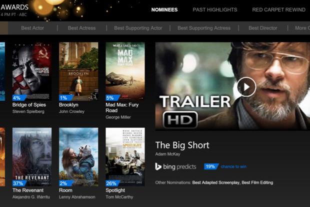 Bing предсказывает, что «Оскара» получат Леонардо Дикаприо и фильм «Выживший»