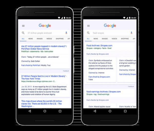 Поиск вGoogle начнет демонстрировать данные о правдоподобности сведений