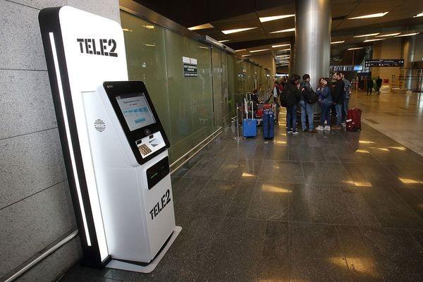 Во «Внуково» установлен первый биометрический симкомат Tele2