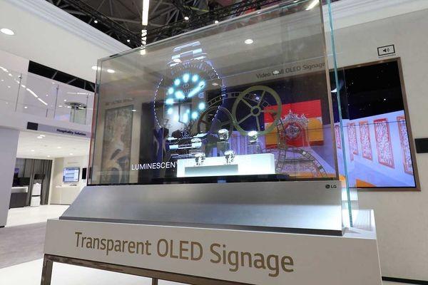 LG выпустила прозрачный экран на органических светодиодах