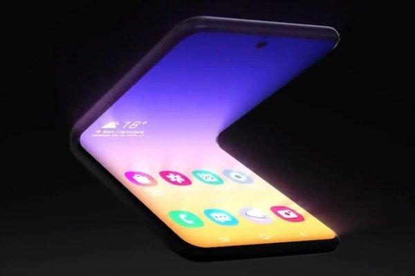 Samsung показала проект телефона, складывающегося в квадрат