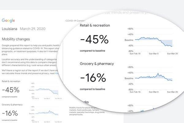 В Google создали сервис, отслеживающий передвижения людей при пандемии сервис