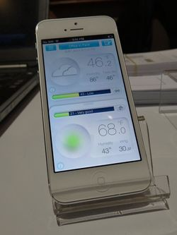 Netatmo app on iPhone