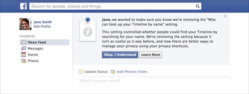 Поиск Facebook по имени