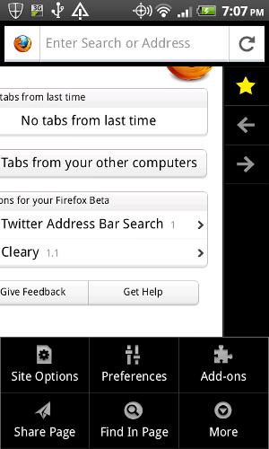 Новая версия Firefox для Android