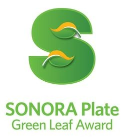 Sonora Plate Green Leaf Awards
