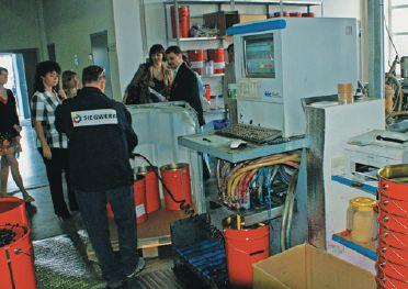 Станция смешения водных красок компьютеризирована; мощность до 60 т/месяц