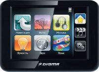 Компания DIGMA, известный производитель компьютерных аксессуаров, решила попробовать свои силы на поприще автомобильных GPS-навигаторов. Аппарат DIGMA DM350 довольно компактен, поскольку имеет дисплей с диагональю 3,5 дюйма. Его толщина всего 12 мм, поэтому он легко поместится даже в нагрудный карман рубашки. В общем, устройство получилось очень изящное и стильное