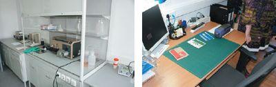 Лаборатория контроля качества оснащена всем необходимым, включая инструменты для цифрового подбора цвета. Если клиент оснащён аналогичным оборудованием и ПО, возможна дистанционная корректировка рецептур. Допуск по цветовому различию на краски — не более 1 ΔЕ. Готовность заказных красок гарантируется в течение суток