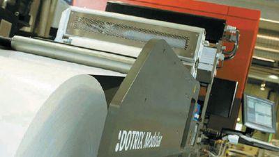 Цифровой модуль Agfa :Dotrix в составе печатной машины Edale