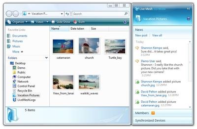Первоначально сервис Microsoft Live Mesh подавался как средство синхронизации пользовательских данных на различных устройств в сети каталогов с данными, позволявшее увидеть, кто из друзей или коллег обновил свои файлы или папки, отправить или прочитать их комментарии, проверить состояние своих собственных файловых устройств