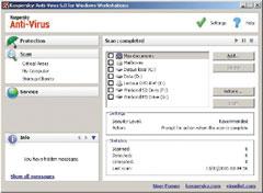 Kaspersky Anti-Virus for Windows Workstations 6.0 устанавливается на рабочие места сотрудников иобеспечивает им защиту от комплекса угроз. Несмотря на то что вназвании продукта есть слово «антивирус», внего будут включены все компоненты персонального варианта Kaspersky Internet Security