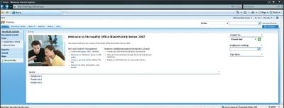 Экран 1. Web-сайт SharePoint по умолчанию