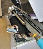 Для работы с рукавными формами вакуумируемый барабан заменяют на специальный пневмовал (Kodak Thermoflex Wide II)