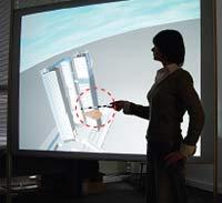 Интерактивная указка. Дисплейная система смонтирована в центре информационных технологий и систем (ЦИТиС)