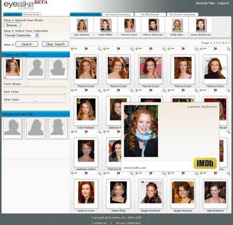 Eyealike удалось создать алгоритм поиска общих черт лиц на основе анализа 10 тыс. параметров, из которых отобрано около полусотни основных