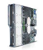 Рисунок 5. По своим характеристикам Dell PowerEdge M710 занимает промежуточное положение между серверами M610 и четырехпроцессорным «лезвием» M900. Это двухпроцессорный модульный сервер полной высоты поддерживает память до 144 Гбайт (18 DIMM) и встроенные дисковые накопители SAS общей емкостью 1,2 Тбайт. В базовой конфигурации имеются четыре гигабитных порта Ethernet, а четыре мезонинных платы PCIe x8 позволяют установить дополнительные коммуникационные порты, например, Fibre Channel. По данным производителя, в течение трех лет эксплуатации серверы Dell M710 TCO потребляют  на 40% меньше энергии, чем аналогичные устройства конкурентов.