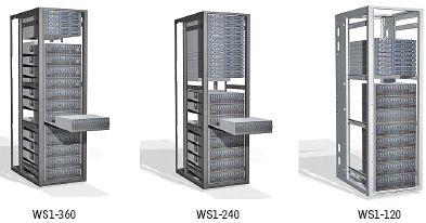 Рисунок 6. EMC Atmos предусматривает разную комбинацию установки серверов и СХД (120-360 Тбайт) в одной стойке, поддерживает репликацию данных, управление версиями, сжатие, дедупликацию, интерфейсы API (REST/SOAP) для приложений Internet и традиционные протоколы (CIFS/NFS/IFS).