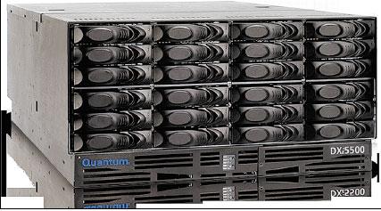 Рисунок 2. Виртуальные ленточные библиотеки (VTL) сохраняют данные на быстрых дисковых системах. Некоторые решения VTL, к примеру DXI 5500 от Quantum, дополнительно предлагают функции дедупликации.