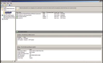 Экран 7. Вид консоли NPS после создания сетевой политики