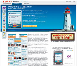 Yahoo oneSearch выдает ранжированные результаты поиска по заголовкам новостей, картинкам, листингам и обзорам