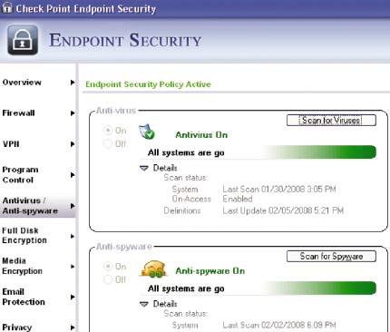 Endpoint Security 7.0 предлагает комплексную защиту компьютеров как от вредоносных кодов, так иот всевозможных сетевых угроз