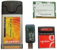 Беспроводные адаптеры, применяемые в мобильных компьютерах