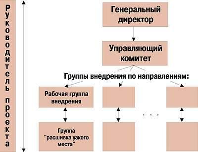 Рис. 4. Схема организации команды внедрения.