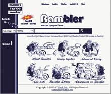 Работа компании «Стек» привела ксозданию собственной поисковой машины, которую назвали Rambler. 8 октября 1996года в«Стеке» активизировали систему