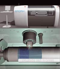 Устройство для лазерного гравирования формных пластин Stork Prints Digital Laser Engraver (снаружи и изнутри)
