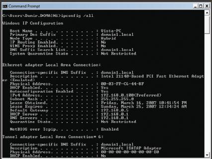 Экран 9. Результаты тестирования NAP на несовместимом компьютере