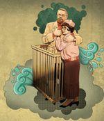 Рис. 7. Зеленые капли и «крючки», нарисованные в Adobe Illustrator, были импортированы в Photoshop через Clipboard